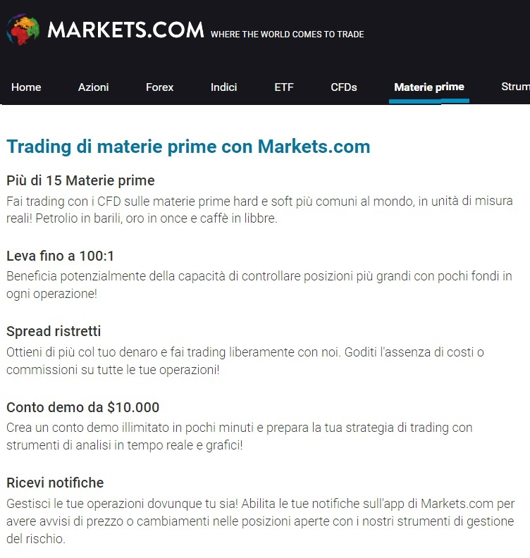 trading-materie-prime-markets