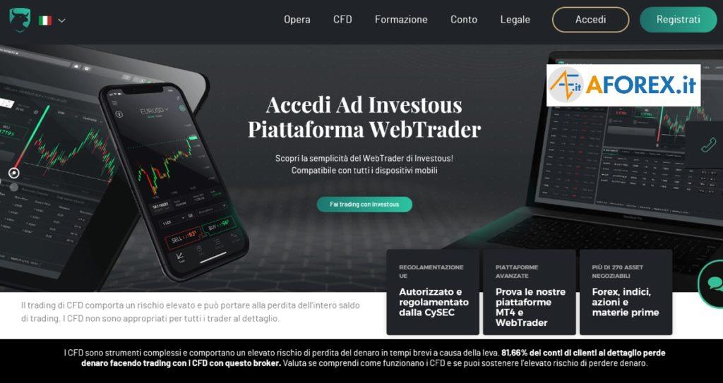 Investous, sito ufficiale per fare forex trading